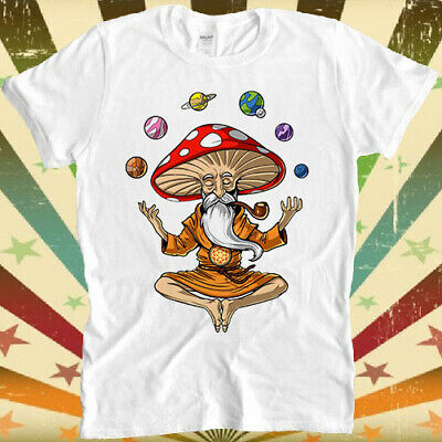 Magic Mushroom Buddha Yoga Planets Solar Cool Top Tee T Shirt 3031 • 8.80£