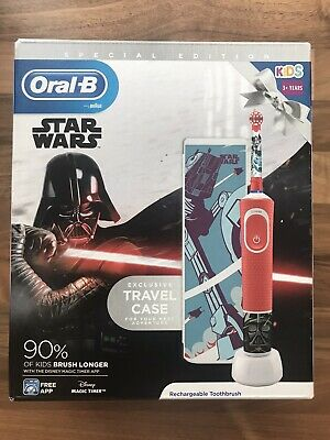 AU35.03 • Buy Star Wars Kids Electric Oral-B Toothbrush And Travel Case Gift Box Boys