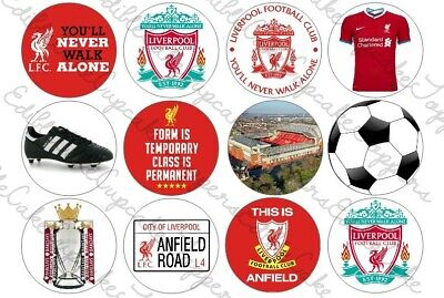 Liverpool Football Cupcake Toppers Edible Icing Cake • 2.29£