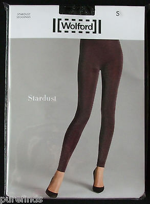 Wolford Stardust Leggings, Lurex Black/silver Size Small Uk 10 Usa 6-8, Nwt • 79£