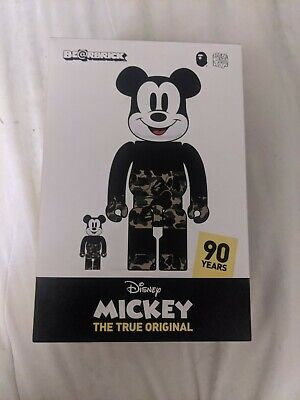 $300 • Buy A BATHING APE × BEARBRICK X MICKEY MOUSE BE@RBRICK 400% & 100% Green Medicom Toy