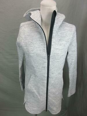 $ CDN54.11 • Buy Lululemon Athletica Size 2 Womens Gray Full Zip Cotton Hooded Track Jacket T132