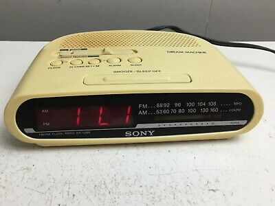 AU29.95 • Buy Sony - Dream Machine -  AM/FM Radio - Alarm Clock - ICF-C290 - Vintage -