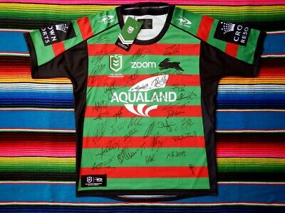 AU499.99 • Buy ✺Signed✺ 2021 SOUTH SYDNEY RABBITOHS NRL Jersey PROOF COA 34 Autographs