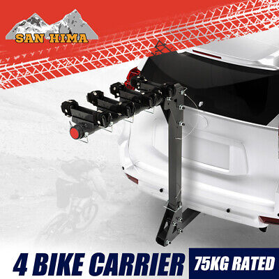 AU139.99 • Buy MOBI 4 Bicycle Bike Carrier Car Rear Rack Foldable TowBar 2  Hitch Mount