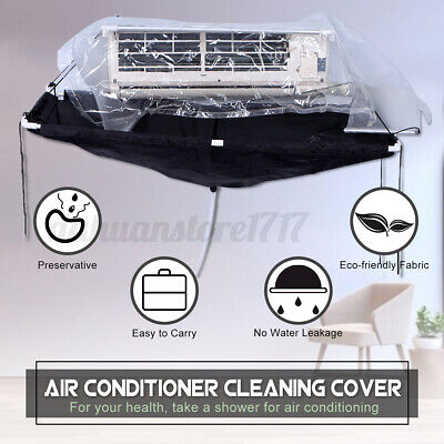 AU75.26 • Buy Cleaning Bag Wash Cover Air Conditioner Wall Mounted Waterproof Protector Kit