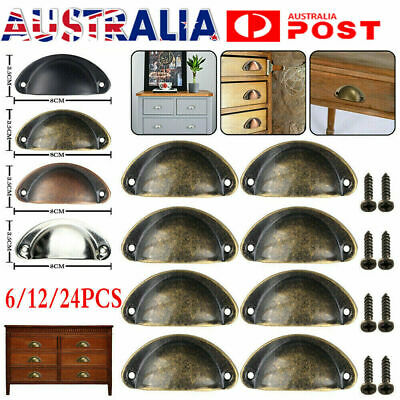 AU12.99 • Buy 6-24X Cupboard Door Cabinet Cup Drawer Furniture Retro Antique Pull Shell Handle