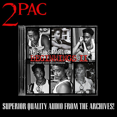 2pac - Beginnings II 1st Ever Recordings Album Raw Unreleased Tupac Promo • 45£