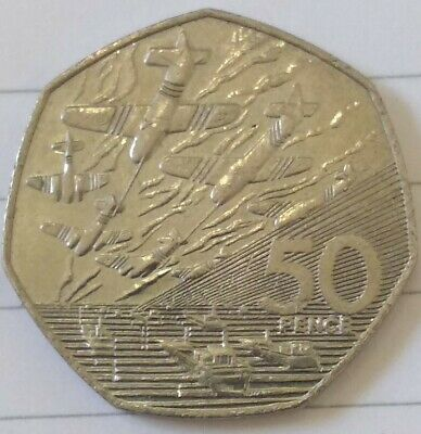 Rare 1994 50p Coin D Day Landing Old Large Style Fifty Pence Battle Of Britain😁 • 1.20£