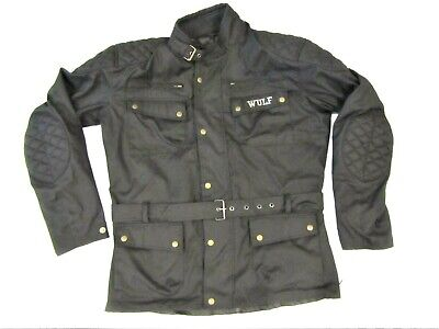 Wulfsport Adult Wax Cotton Ride Jacket Black Size Large Chest 42'' • 29.95£