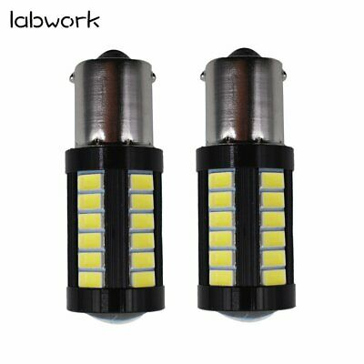 $8.89 • Buy 2X 1156 3014 High Power 6000K White 33 SMD Tail Brake Stop LED Lights Bulbs