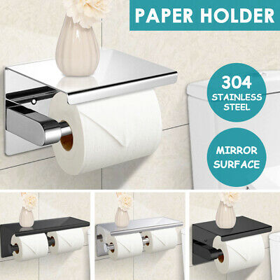 AU21.99 • Buy 304 Stainless Steel Toilet Paper Roll Holder Bath Accessory Tissue Storage Hook