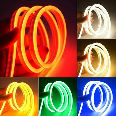 $5.99 • Buy 12V Flexible LED Strip Waterproof Sign Neon Lights Silicone Tube 1M 2M 3M 5M USA