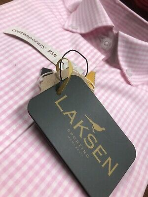 Laksen - Dover Pink Ladies Shirt, New With Tags, RRP £99 Size 8 • 19.99£