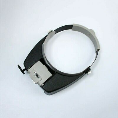 Head Set Loupe Glass Led Magnifier Visor Magnifying With Portable 3 Light Lamp • 15.70£