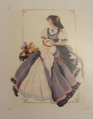DMC Chinese Counted Cross Stitch Kit  Lady Embroidering  New, Rare Bargain! • 19.99£
