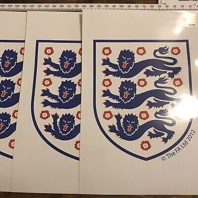 £12.99 • Buy Official FA Three Lions - ENGLAND Vinyl Decal X 4 Football Stickers