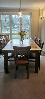 Ikea Pine Dining Table And 8 Chairs • 150£
