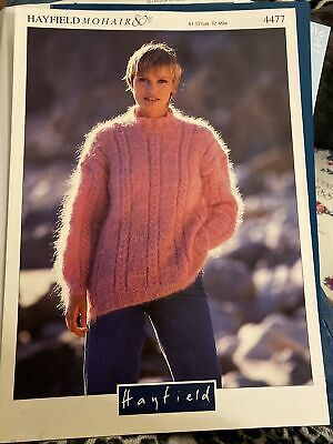 Knitting Pattern For Ladies  Mohair Sweater Hayfield 4477 • 1.95£