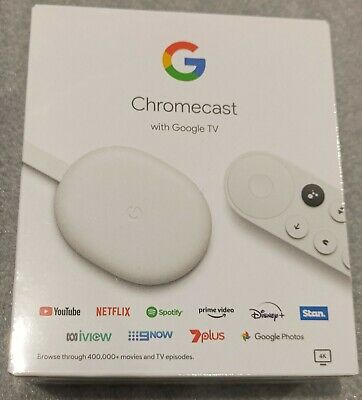 AU92.95 • Buy NEW GA01919-AU CHROMECAST With GOOGLE TV - SNOW