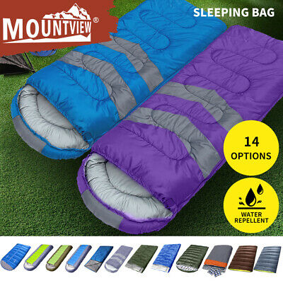 AU39.99 • Buy Mountview Sleeping Bag Single Double Bags Outdoor Camping Hiking Thermal Winter