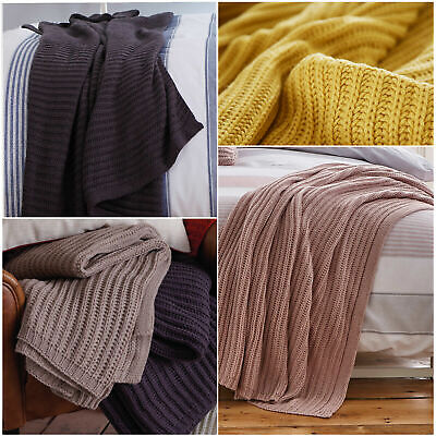 £18.99 • Buy Catherine Lansfield CHUNKY KNIT Cosy Cable Knit Throw / Blanket 125cm X 150cm