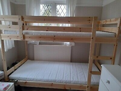 Ikea Bunk Beds With 2 Mattresses • 100£