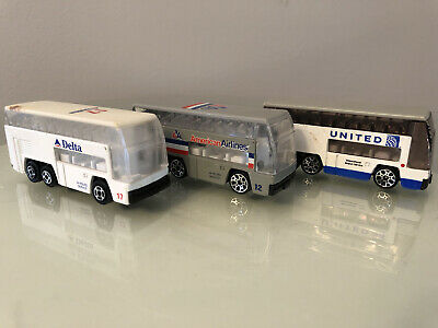 $ CDN29.82 • Buy 3 Vintage Diecast Delta, American, & United Airlines Airport Double Decker Buses