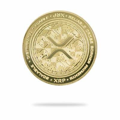 AU44.83 • Buy XRP 2021 Edition (Ripple) Physical Cryptocurrency Coin Collectable Gold Color
