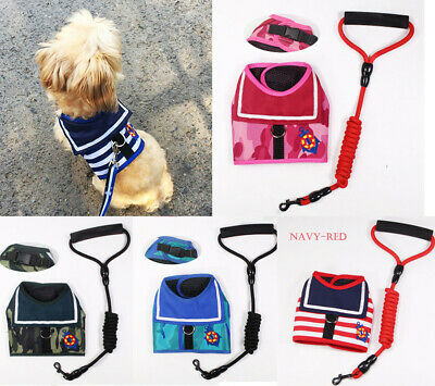 £4.89 • Buy Dog Puppy Harness Vest Navy Padded Small Soft Lead Small Medium Large Pet Cute