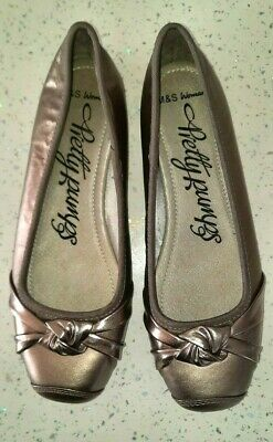 M&S Pretty Pumps Pewter Shoes - UK Size 4  • 2.99£