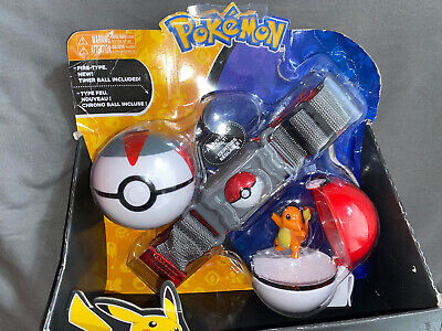 Pokemon Clip N Go Belt With Pikachu, Poke Ball And Net Ball Role Play Set T18889 • 19.99£