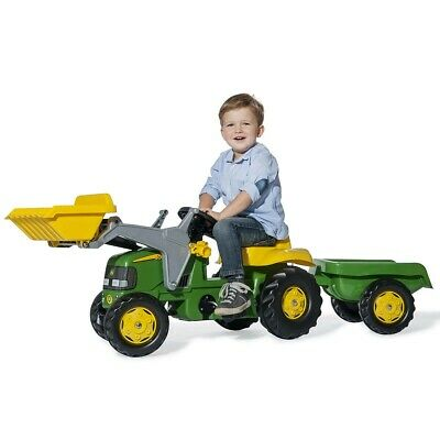 £95.99 • Buy Tractor Pedal Ride On With Front Loader AndDetachable Trailer 3+John Deere