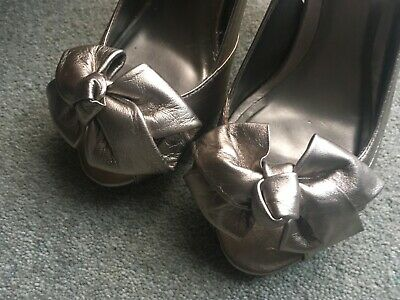 Dune! Ladies Pewter Sling Back Shoes! Size 4! Or 37! • 5.50£
