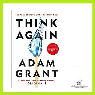 AU31.70 • Buy Think Again: The Power Of Knowing What You Don't Know By Adam Grant (Paperback)
