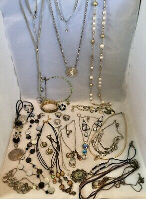 $ CDN125.52 • Buy Huge Lia Sophia Jewelry Lot Necklaces Earrings Bracelet Rings Boho Gems New/Used