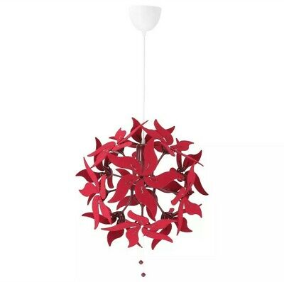 Ikea Ramsele Ceiling Pendant Lamp 17  Decorative Flower Dark Red - New  • 84.33£