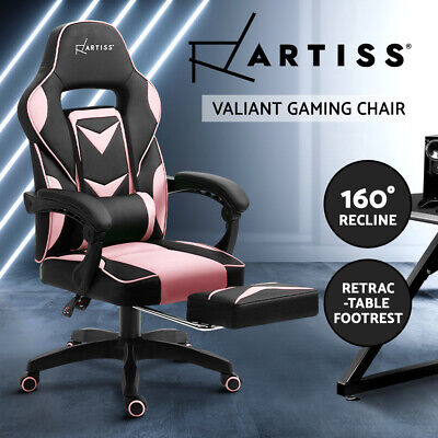 AU138.50 • Buy Artiss Gaming Chair Office Computer Chairs Recliner Work Desk Seat Black Pink
