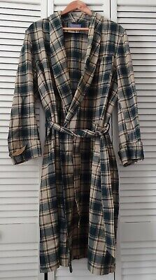 $23.99 • Buy Pendleton Robe M 100% Virgin Wool VTG Pure Woolen Mill Plaid Flannel Made In USA