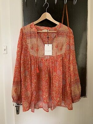AU299 • Buy BNWT Spell And The Gypsy Extra Large LOVE STORY BLOUSE Red Coral XL