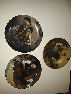 $ CDN35.25 • Buy Lot Of 3 Norman Rockwell Plates