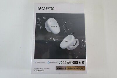 AU199.88 • Buy Sony WF-SP800N Noise Cancelling Sports Headphones (White) Brand New Sealed