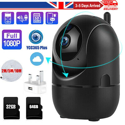 HD 1080P Wireless WIFI IP CCTV Camera Smart Home Security Night Vision Indoor UK • 6.97£