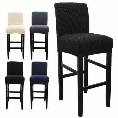 AU15.19 • Buy Elastic Bar Stool Cover Wedding Dining Chair Seat Cover Stretch Banquet 💖