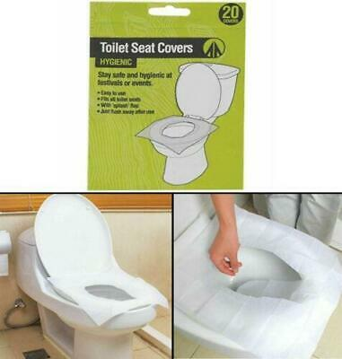 £3.49 • Buy 20pk Easy Disposable Paper Toilet Seat Cover Flushable Hygienic Health Camping