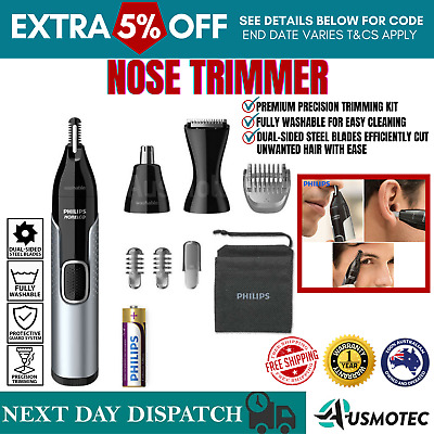 AU55.20 • Buy Philips Norelco Nose Trimmer 5000 Mens Ear Eyebrow Hair Shaver Cordless Grooming