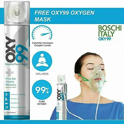Oxy99 Portable Oxygen Cylinder / Can By OXY99 WITH MASK  • 24£