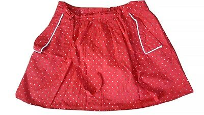 Size 12 Red And White Polka Dot Skirt With Pockets • 1.50£