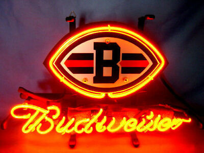 $ CDN99.73 • Buy CLEVELAND BROWNS Football BUDWEISER Beer Bar Pub Garage Display Neon Light Sign