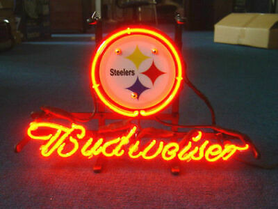$ CDN99.73 • Buy NFL PITTSBURGH STEELERS Budweiser Beer Bar Pub Store Garage Neon Light Sign